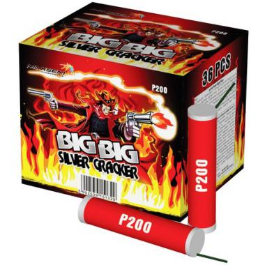 Петарда фитильная P200 (в уп. 36шт.) BIG BIG SILVER CRACKER